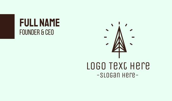 aesthetics - Minimalist Pine  Business card horizontal design