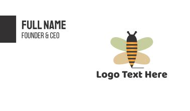 Cute Bee Pencil Business Card
