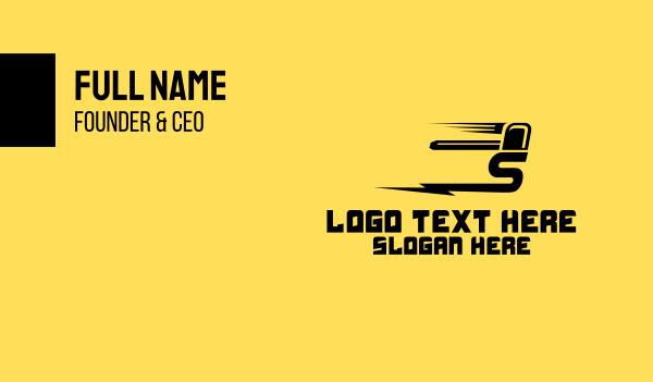 lightning - Fast Letter S Business card horizontal design
