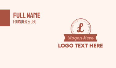 Circle Banner Lettermark Business Card