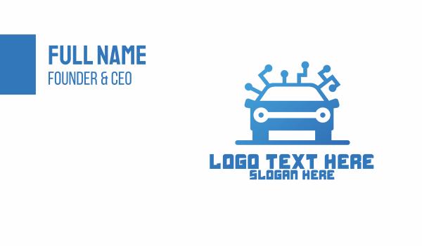 car face - Modern Car Mechanic Business card horizontal design