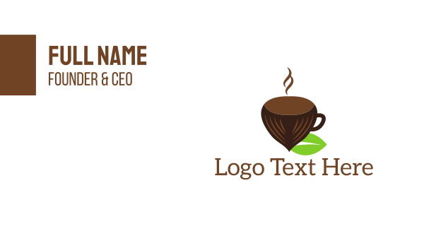 acorn - Hazelnut Cup Business card horizontal design