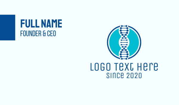 genetic - Blue DNA String Business card horizontal design