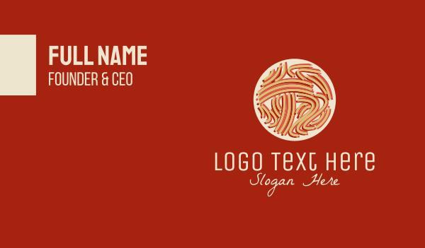 noodles - Pasta Italian Restaurant Business card horizontal design