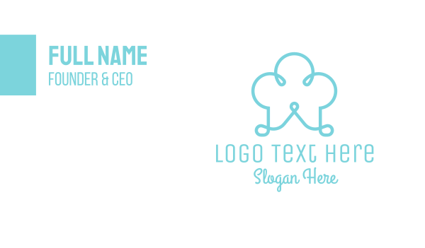 snacks - Blue Chef Hat Scribble Business card horizontal design