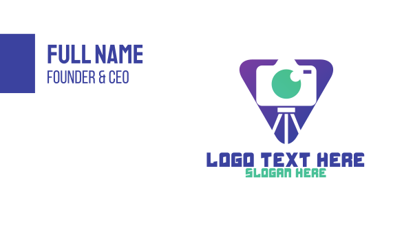 camera - Triangle Photo Booth Business card horizontal design