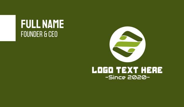 number 2 - Tech Leaf Number 2 Business card horizontal design