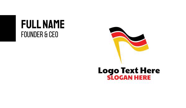 europe - Abstract German Flag Business card horizontal design