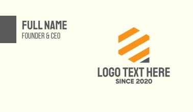 Tech Bars Stripes Business Card