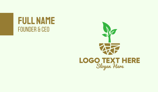 horticulture - Natural Organic Gardening   Business card horizontal design
