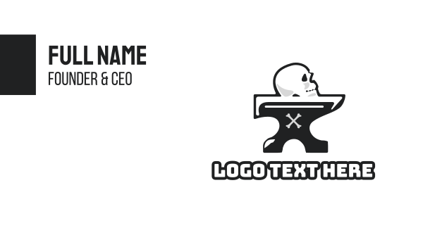 cranium - Anvil Skull Business card horizontal design