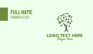 Tree Forestry Environmental Business Card