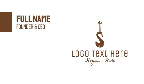 orchestral - Swan Violin Business card horizontal design
