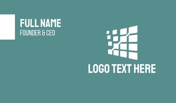 financial planning - White Data  Business card horizontal design