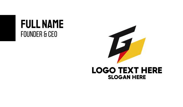 european - Germany Letter G  Business card horizontal design