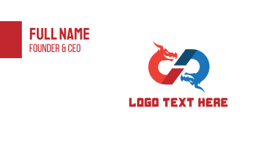 Dragon Letter CD Business Card