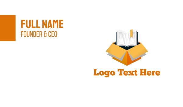 learn - Book Box Business card horizontal design