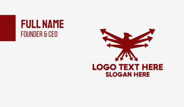 stock market - Red Eagle Bird Arrow Business card horizontal design