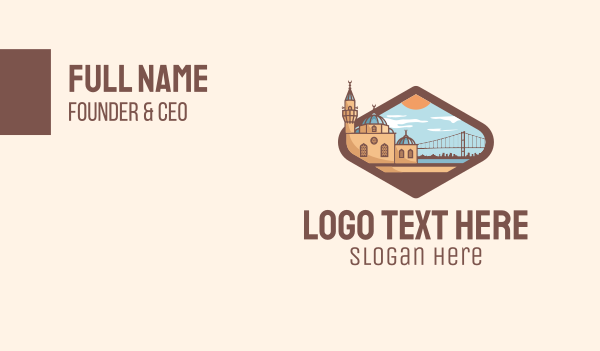 urban planner - Istanbul City Landmark Business card horizontal design