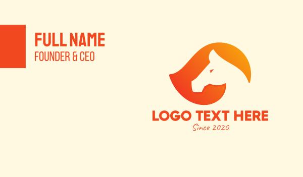 horseback - Modern Horse Race Business card horizontal design