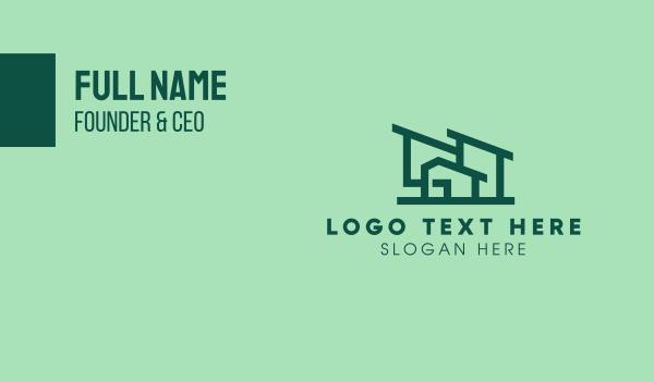 mansion - Minimal House Style Business card horizontal design