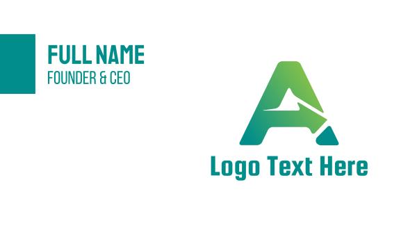 auckland - Gradient A Arrow Business card horizontal design