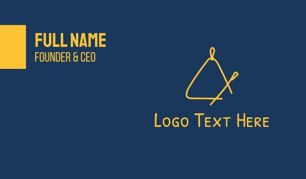 music class - Golden Triangle Music Instrument Business card horizontal design