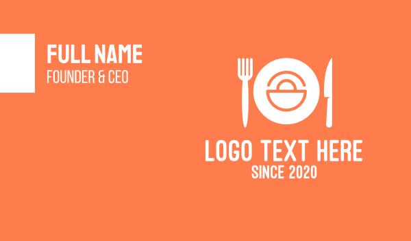 minimart - Meal Shopping Bag Food Business card horizontal design