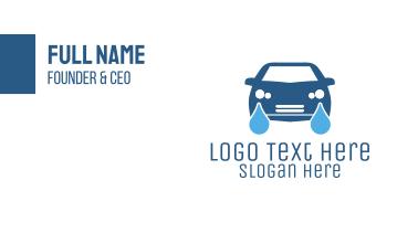 Blue Automotive Car Wash Business Card