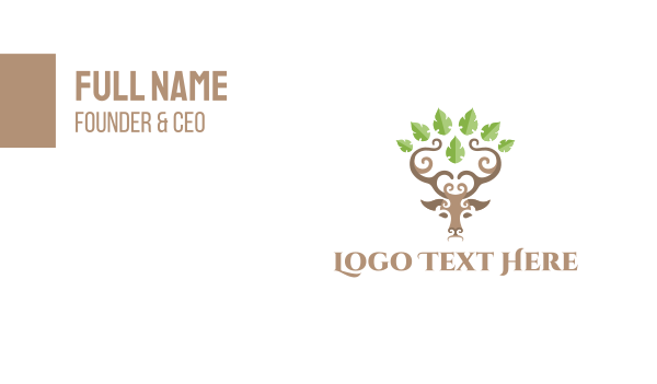 antlers - Deer Grove Business card horizontal design