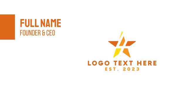 four - 4 Four Star Business card horizontal design