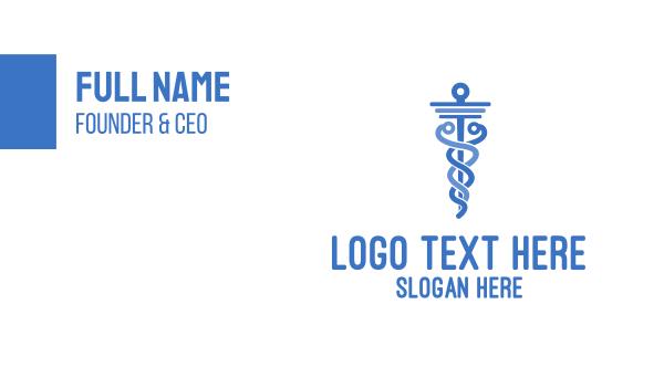 caduceus - Medical Doctor Caduceus Business card horizontal design