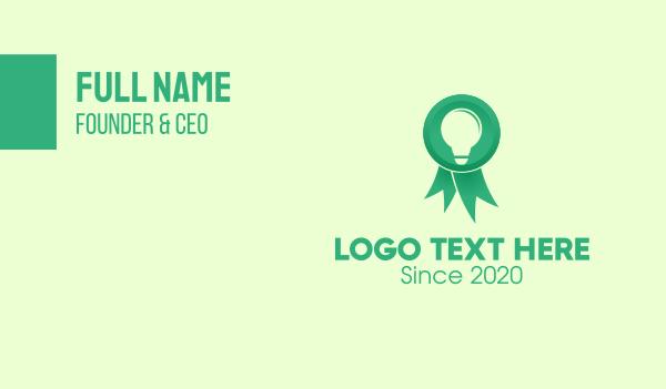 recognition - Green Innovation Award Business card horizontal design