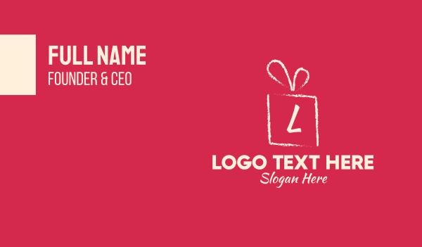 bonus - Brushstroke Gift Lettermark Business card horizontal design