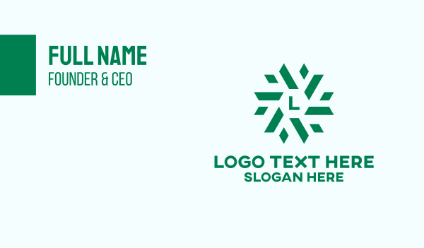 green energy - Green Corporate Lettermark  Business card horizontal design