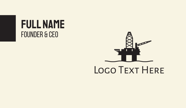 refinery - Oil Rig Business card horizontal design
