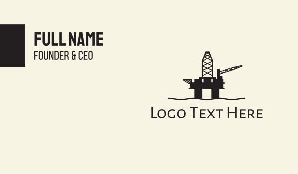 fuel - Oil Rig Business card horizontal design