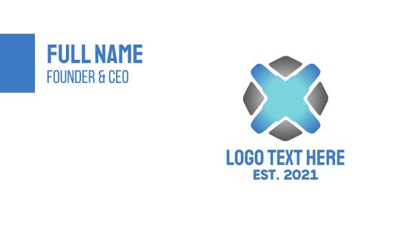 business software - Modern Tech Business Business card horizontal design