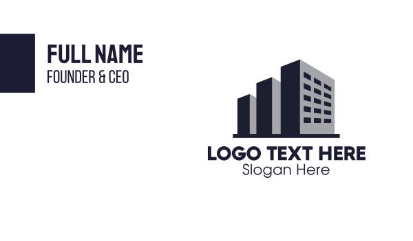 enterprise - Monochrome Building Business card horizontal design