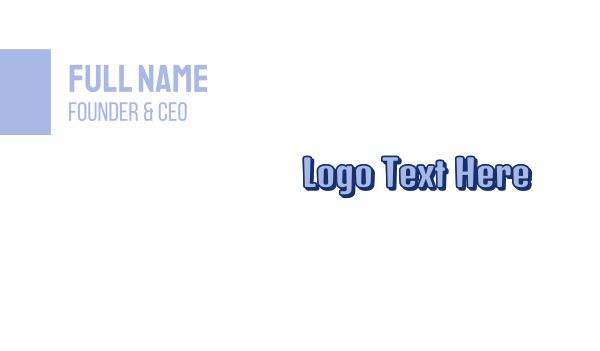 friendly - Friendly Blue Business card horizontal design