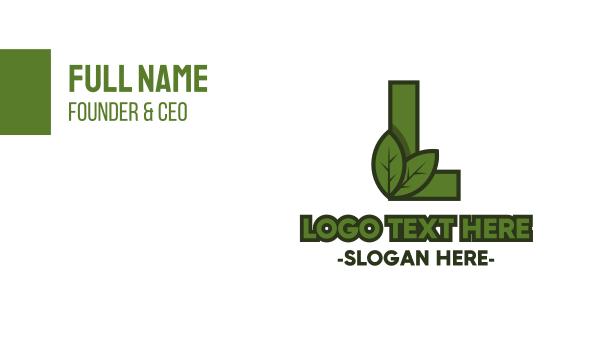 arborist - Eco Letter L Business card horizontal design