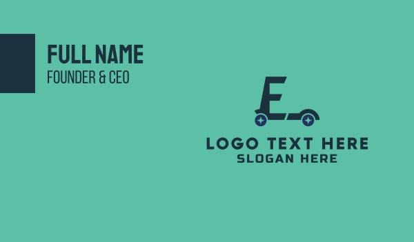 cyclist - E Scooter Business card horizontal design