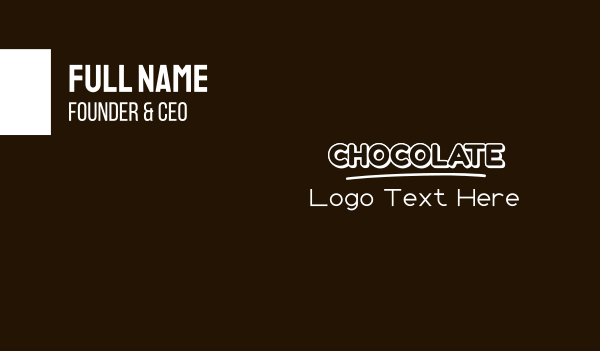 biscuit - Sweet Chocolate  Business card horizontal design