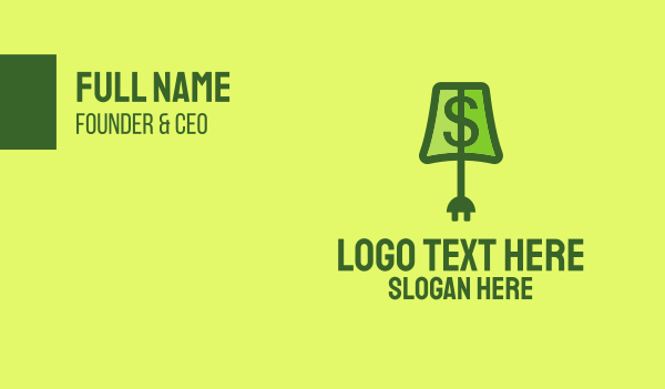 dollar sign - Financial Lamp Business card horizontal design