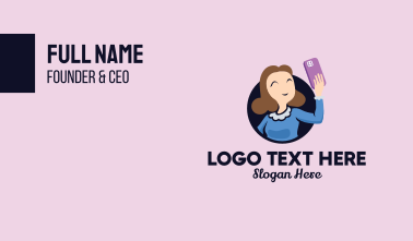 Smiling Selfie Lady  Business Card