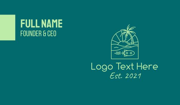 boracay - Tropical Beach Travel Business card horizontal design