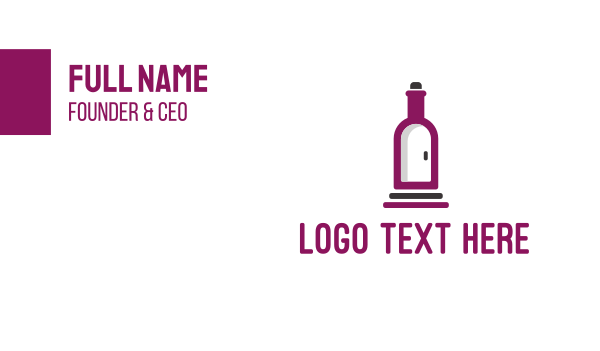 booze - Wine Bottle Cellar Door Business card horizontal design