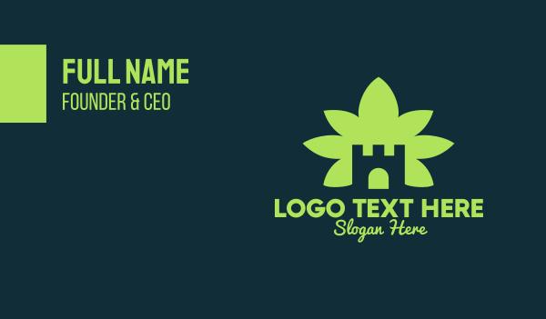 medical cannabis - Marijuana Castle Business card horizontal design