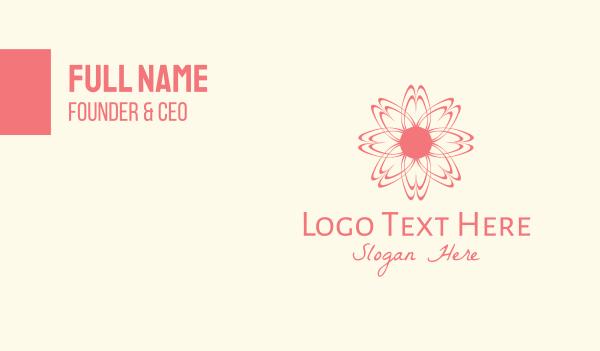 sakura - Pink Wellness Flower Business card horizontal design
