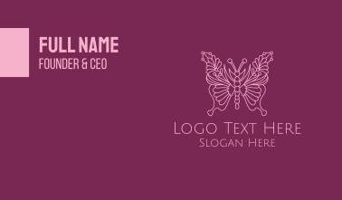 Floral Butterfly Wings Business Card
